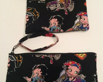 Limited quantity Betty Boop on motorcycle wristlets