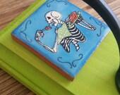 Dia de los Muertos Skeleton wall hanging/hook/key hanger