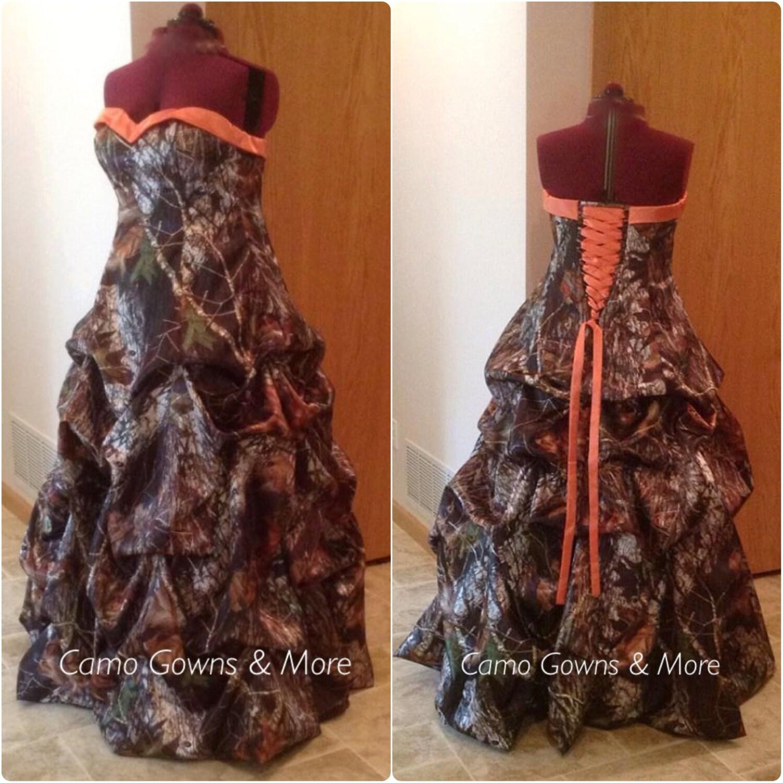 Cinderella Wedding Dress Up Games Online White Camo: CAMO Wedding Dress Camo Prom Dress By CamoGownsAndMore On Etsy
