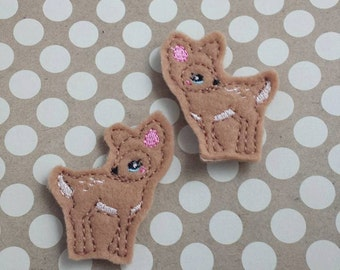 Little Deer Hair Clips (Set of two)