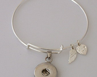 Very Popular Silver Adjustable Wire Bracelet for CHUNK CHARMS