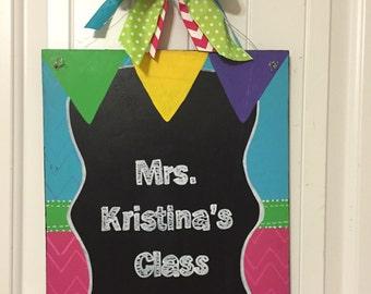 Classroom door hanger | Etsy