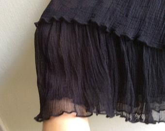 Black underskirt-skirt extender with lyered chiffon frill
