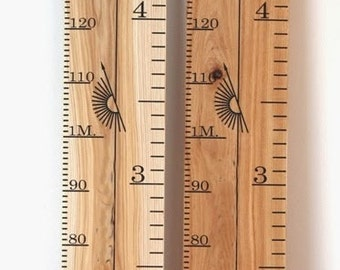 Handcrafted Growth Chart - Stained & Varnished Finish