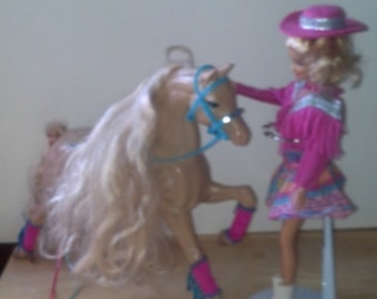 Vintage Western Barbie Horse and Barbie outfit