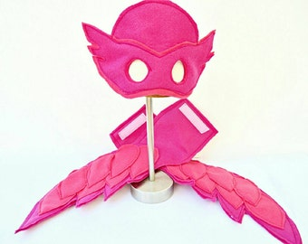 Owlette mask and armband wings.