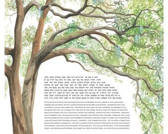 Live Oak Tree Ketubah