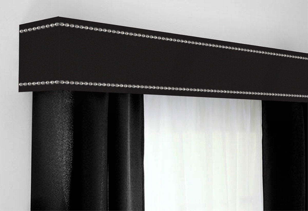 how to make curtain pelmet board
