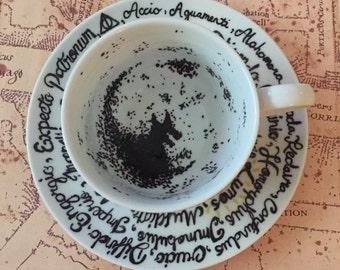 The Grim teacup Harry Potter inspired divination