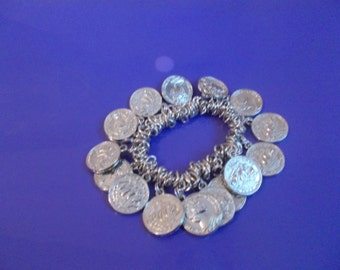 Unique Handmade plastic coin bracelet for special someone in your life