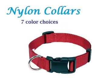 Nylon Dog and Cat Collars - All Sizes