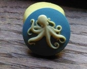 Cameo Cabochon Mold, Octopus Mold, Silicone push mold for resin, polymer clay, sugar craft- food safe, non toxic
