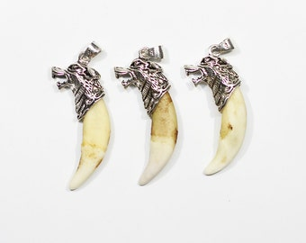 Wholesale Wolf Teeth Pendant Wolf Tooth for DJ