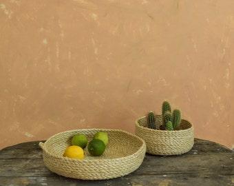 Sisal basket, Rope basket, Storage basket , Sisal bowl, Pannier, Storage bowl, Fruit bowl, Decorative plate,