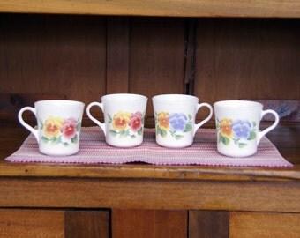 Summer Blush ~ Set of (4) Four ~ Mugs/Cups
