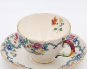 Royal Cauldon Victoria Tea Cup and Saucer Set (Large)  Crazing