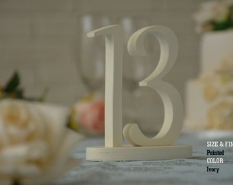 Elegant Wedding Table Numbers, Gold Table Numbers, Silver Table Numbers