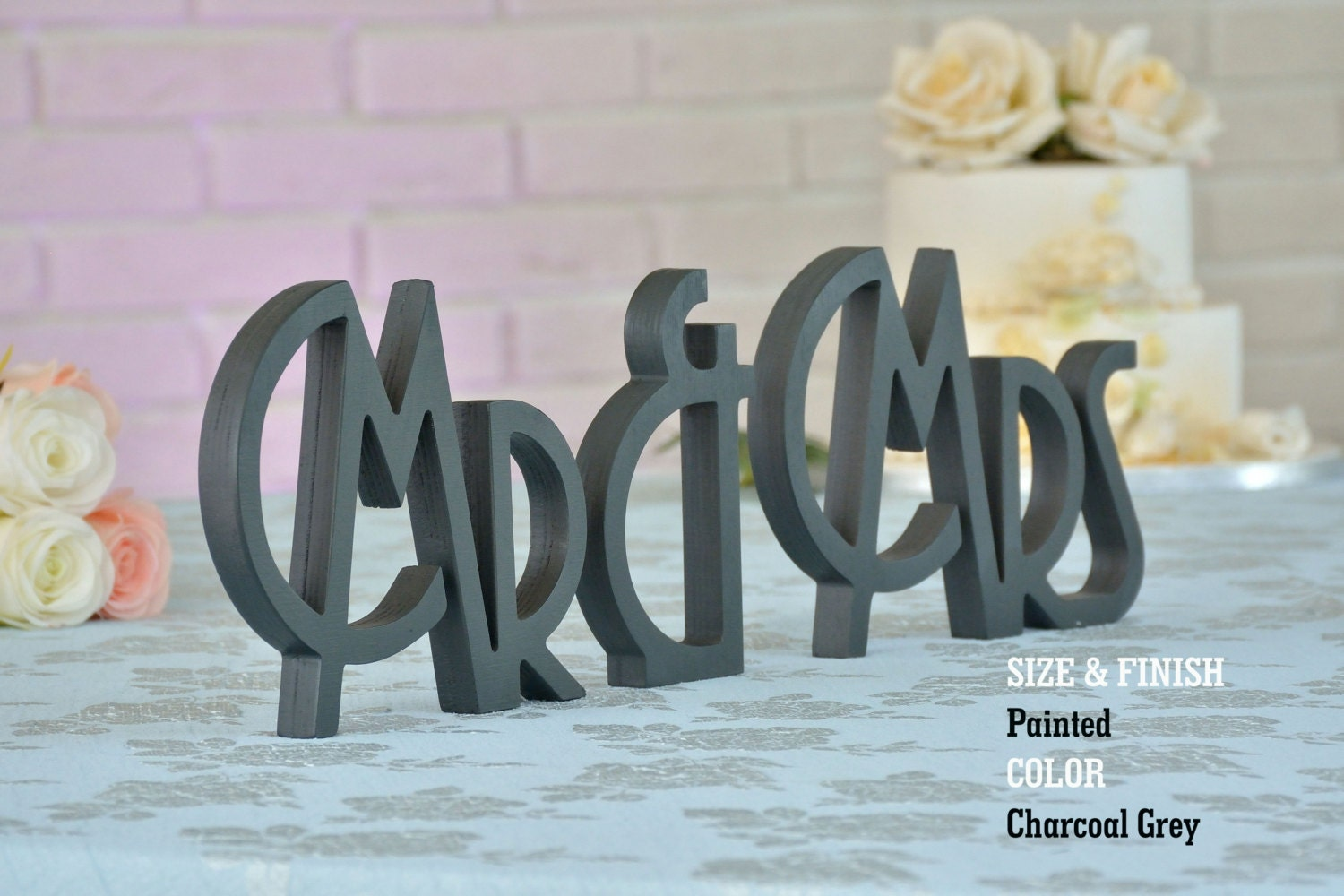 Mr And Mrs Wedding Sign Mr And Mrs Letters Wedding Sign Mr