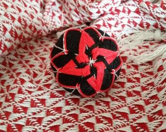 Black & Red Temari Ball