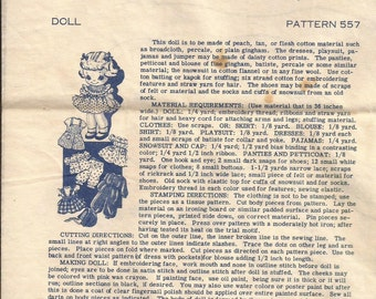 557 Laura Wheeler Doll Pattern with wardrobe vintage 1966