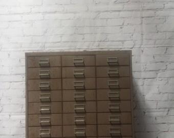 Steelmaster vintage 30 drawer metal card cabinet