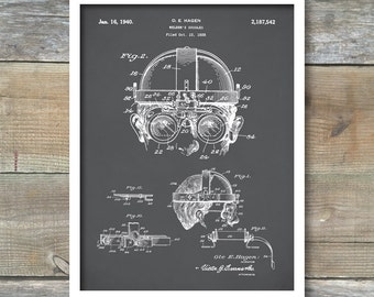 Welding Goggles Patent Print, Welding Goggles Poster, Welding Goggles Print, Welding Art, Steam Punk Décor, P243
