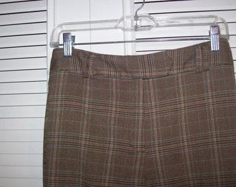 Vintage Plaid Larry Levine Fall and Winter Pants- Beautiful Pants 14 Petite