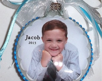 Personalized Ornament Personalized for you Customized Memory Glass Christmas Ornament 11