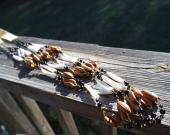 Native American style Pine Nut & Dentalium Necklace