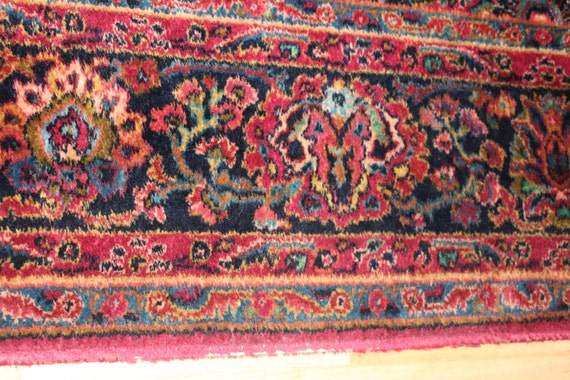 9x12 Rug Karastan Rug Vintage Red Sarouk Area Rug Beautiful