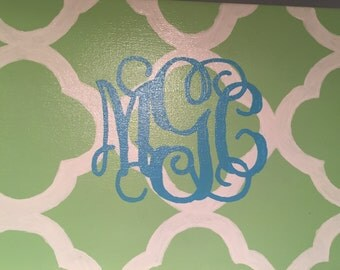 16x20 Painted Monogram Canvas