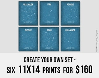 Create Your Own Set, Set of 6 Prints, Nerdy 11x14 Posters, Nerd Gifts for Him