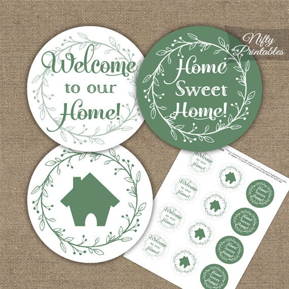 Housewarming Cupcake Toppers Printable House Warming Party