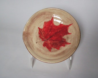 Red Maple Leaf Spoon Rest