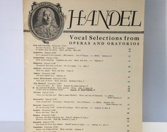 HANDEL Aria from The Messiah,Vintage piano music,vintage Handel sheet music,He Shall Feed His Flock,church piano music,religious sheet music