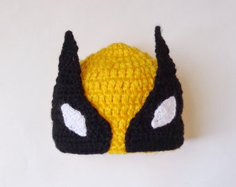 Wolverine Marvel Hat Costume, Wolverine Beanie Mask- Superhero Hat Newborn Child Teen Adult X-Men -Halloween /Cosplay Wig