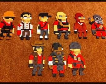 Mini Team Fortress 2 Character Class Perler Bead Sprites