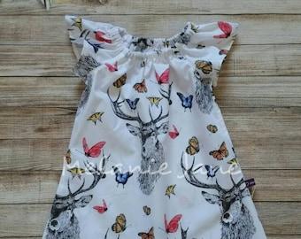 6-7 years Deer Butterfly Angel Dress