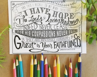 A set of 10 handdrawn scripture verse postcards. To inspire, color and share. 2 cards each of 5 original designs.