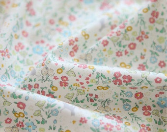 Cotton Fabric Floral Pink By The Yard