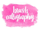 Brush Calligraphy Basics by Brittany Morgan (Glitter & Bold) // Calligraphy Instruction Book
