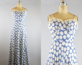 1930s Maxi Dress / 1930s Crepe Dress