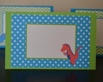 Dinosaur Table Tent - Food Label - Dinosaur Place Cards - Dinosaur Food Tent - Dinosaur Table Tent - Dinosaur Birthday Dino party - Set of 6