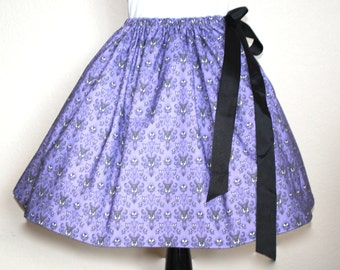 Haunted Mansion Skirt for Gals, All Sizes, Plus Size,