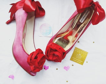 wedding shoes,red shoes, valentines day ,bridal shoes, the bride,wedding, bride shoes, bridesmaids shoes, shabby chic, Marie Antoinette