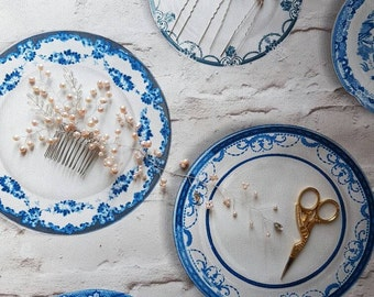 Gold Hairpiece, pearl halo, hair vine ,boho,fashion,hairpiece, gold hairpiece, wedding accessory bridal hairpiece,