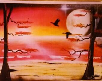 Spray paint art on canvas #408