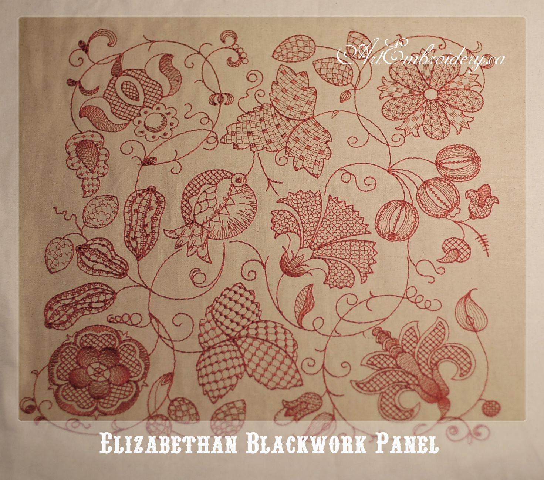 Elizabethan Blackwork Embroidery Patterns | Makaroka.com