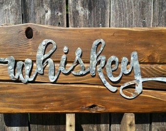 Metal Whiskey Sign