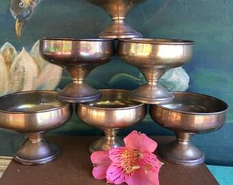 1930's Alvin Sterling P12 Set of 6 Sherbet / Dessert Pedestal Bowls